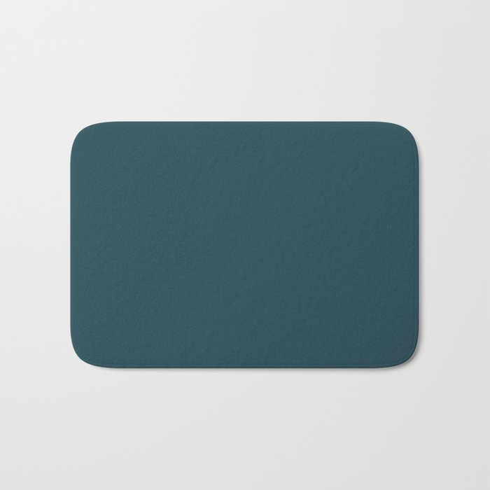 Fanciful Dark Turquoise Blue Green Solid Color Pairs To Sherwin Williams Moscow Midnight SW 9142 Bath Mat