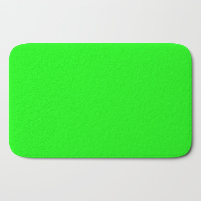 From The Crayon Box – Electric Lime - Bright Green - Neon Green Solid Color Bath Mat