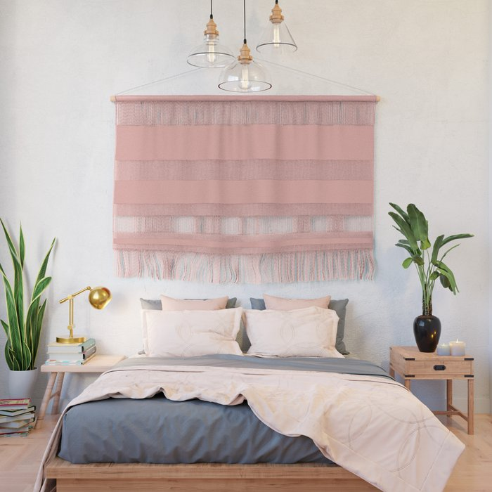 Pratt and Lambert 2019 Coral Pink 2-6 (Pastel Pink) Solid Color Wall Hanging