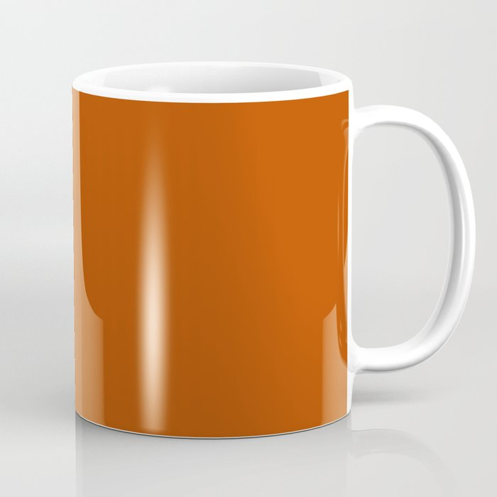 Best Seller Colors of Autumn Terracotta Orange Brown Single Solid Color - Accent Shade Hue Colour Coffee Mug