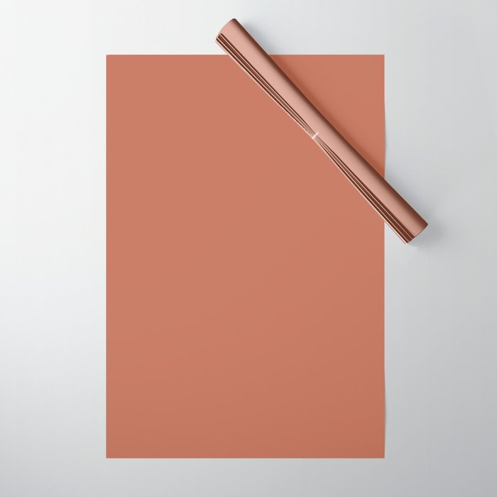Best Seller Sherwin Williams Color of the Year 2019 Cavern Clay SW 7701 Solid Color Wrapping Paper