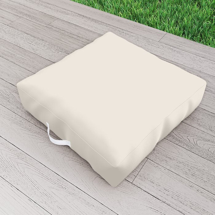 Best Seller Sherwin Williams Colors of 2019 Porcelain (Off White Cream Ivory) SW 0053 Solid Color Outdoor Floor Cushion