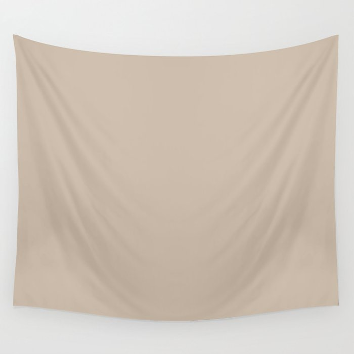 Best Seller Sherwin Williams Trending Colors of 2019 Dhurrie Beige SW 7524 Solid Color - Hue - Shade Wall Tapestry