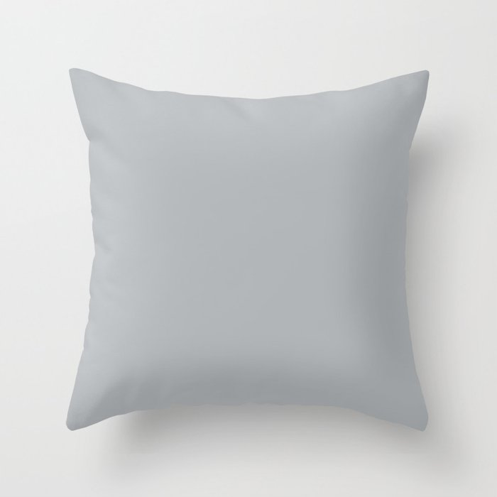 Best Seller Ultra Pale Grey Solid Color Parable to Jolie Paints French Grey - Shade - Hue - Colour Throw Pillow