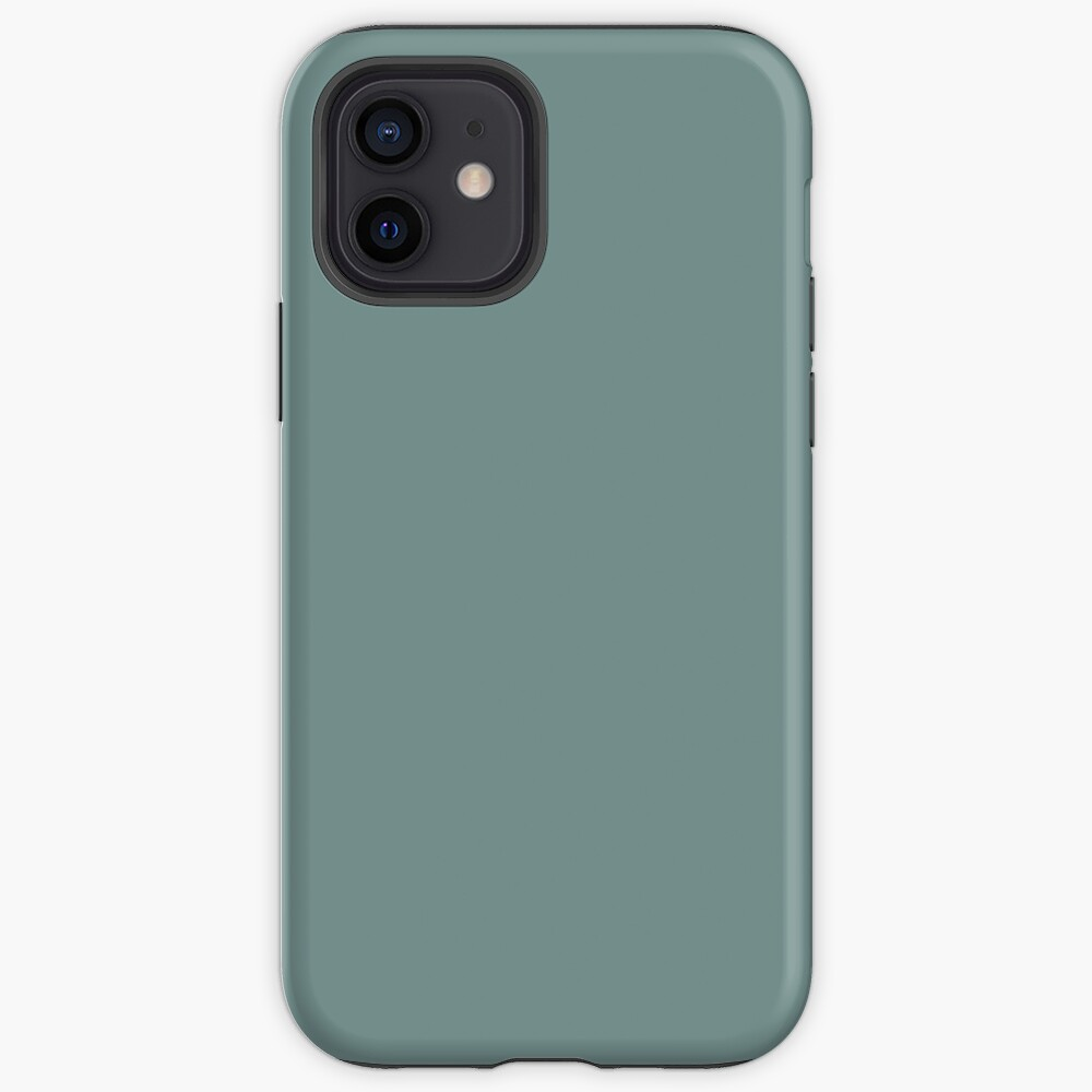Cool Tropical Blue-Green Solid Color Pairs To Benjamin Moore Aegean Teal 2136-40 2021 Color of the Year iPhone Case & Cover