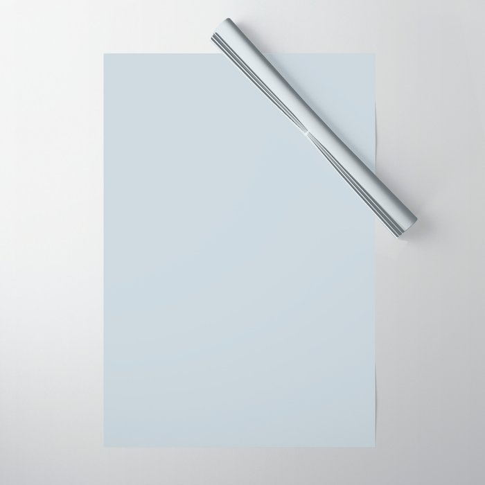 Meadow Mist Pastel Blue Solid Color Pairs W Behr's 2020 Forecast Trending Color Light Drizzle Wrapping Paper