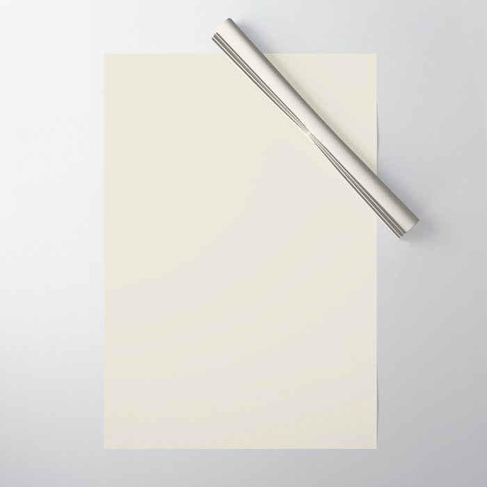 Neutral Off-white - Cream - Ivory Solid Color Parable to Valspar Snowy Dusk 7002-3 Wrapping Paper