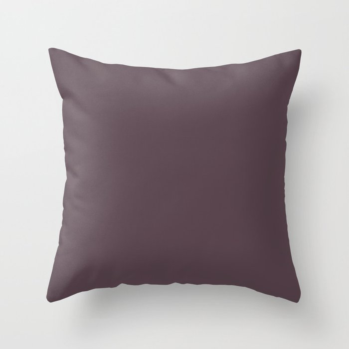 Dark Purple Solid Hue - 2022 Color - Shade Pairs Dunn and Edwards Grapes of Wrath DET409 Throw Pillow