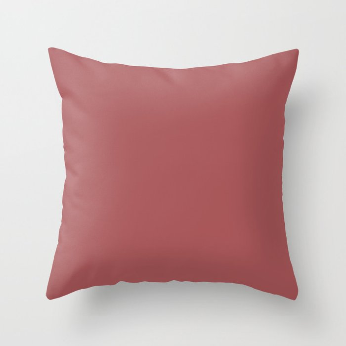 Dramatic Red Solid Color Pairs Behr 2022 Trending Hue - Shade - Lingonberry Punch M150-6 Throw Pillow