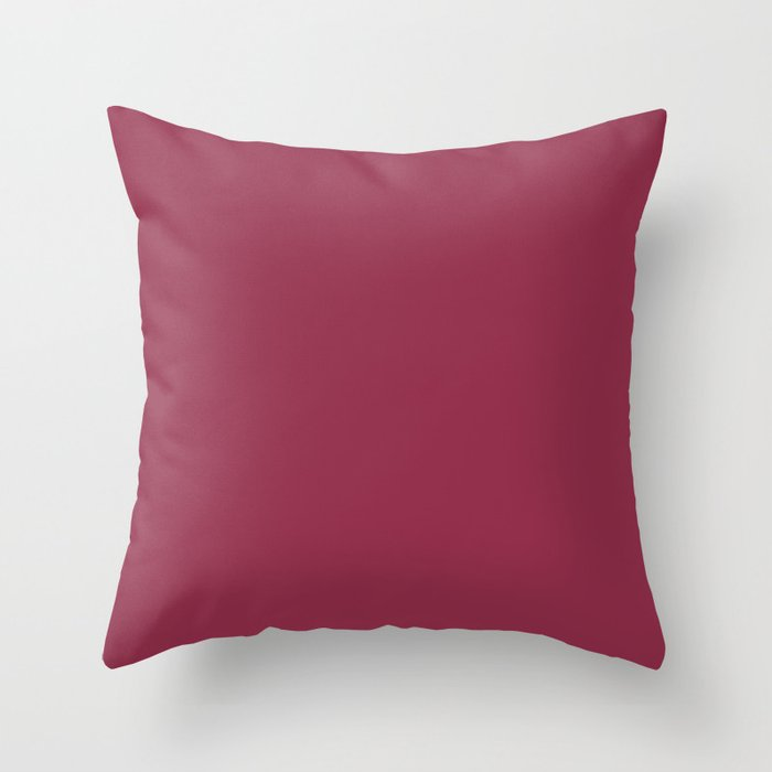 Harvest Red Pink Solid Hue - 2022 Color - Shade Pairs Dunn and Edwards Scarlet Apple DEA146 Throw Pillow