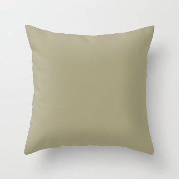 Herbal Olive-Green Solid Color Pairs Behr 2022 Trending Hue - Shade - Sustainable S350-4 Throw Pillow