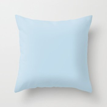 Infused Pastel Blue Solid Color Pairs Behr 2022 Trending Hue - Shade - After Rain M520-2 Throw Pillow