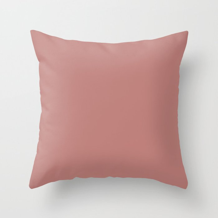 Pale Rose Solid Color 2022 Spring/Summer Trending Hue Coloro Pink Amethyst 011-56-12 Throw Pillow