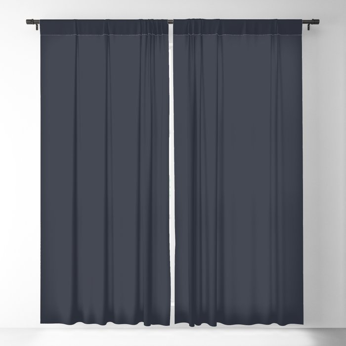 After Midnight Blue Solid Color PANTONE 19-4109 Autumn/Winter 2021/2022 Core Classic Hues Blackout Curtain