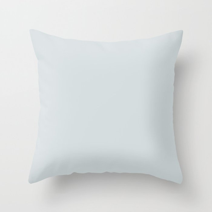 Arctic Pastel Blue Solid Color - Popular Shade 2022 PPG Winter's Breath PPG1038-3 Throw Pillow