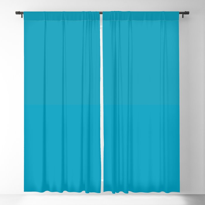 Teal / Turquoise / Blue Green Solid Color Pairs to Coloro 2022 Trending Color AI Aqua 098-59-30 Blackout Curtain