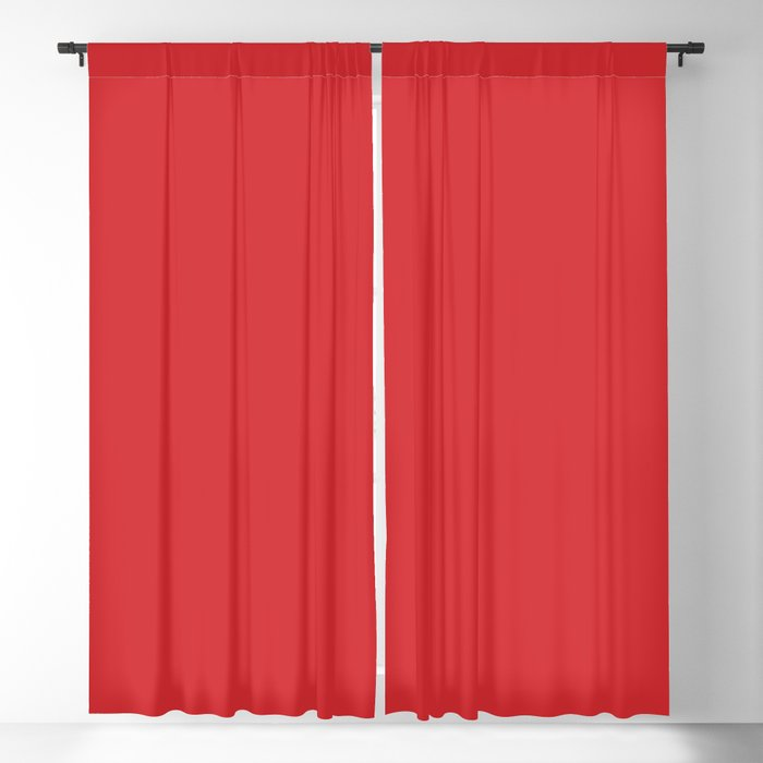 Bright Red Solid Color 2022 Spring/Summer Trending Hue Coloro Real Red 012-41-36 Blackout Curtain