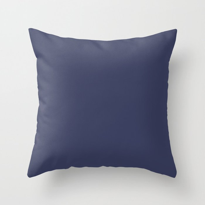 Dark Blue Solid Hue - 2022 Color - Shade Dunn and Edwards Singing the Blues DET576 Throw Pillow
