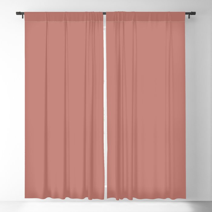 Dark Pink Solid Color 2022 Trending Hue Sherwin Williams Coral Clay SW 9005 Blackout Curtain