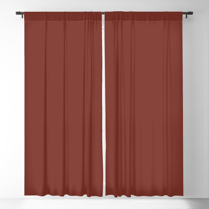 Dark Red Solid Hue - 2022 Color - Shade - Colour Pairs Farrow and Ball Incarnadine 248 Blackout Curtain