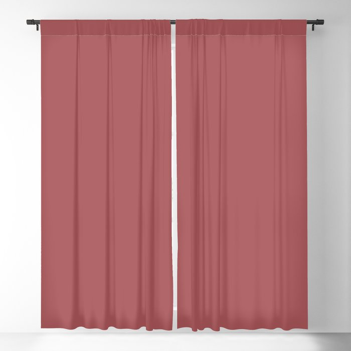 Dramatic Red Solid Color Pairs Behr 2022 Trending Hue - Shade - Lingonberry Punch M150-6 Blackout Curtain