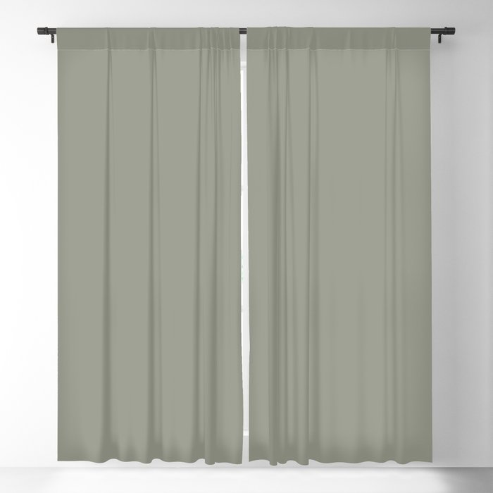 Grayish Green Solid Color 2022 Color of the Year Sherwin Williams Evergreen Fog SW 9130 Blackout Curtain