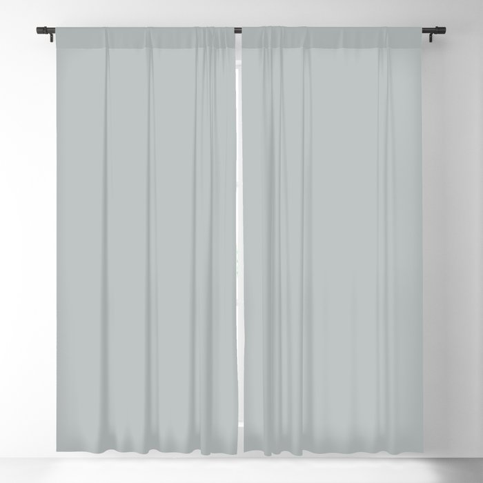 Light Gray / Grey Solid Color 2022 Trending Hue Sherwin Williams Samovar Silver SW 6233 Blackout Curtain
