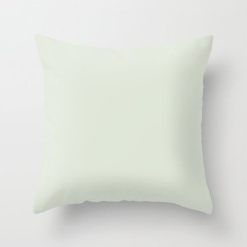 Light Mint Green Solid Color - Popular Shade 2022 PPG Lime Daiquiri PPG1127-1 Throw Pillow