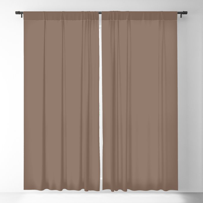 Medium Brown Solid Hue - 2022 Color - Shade Pairs Dunn and Edwards Wandering Road DE6076 Blackout Curtain