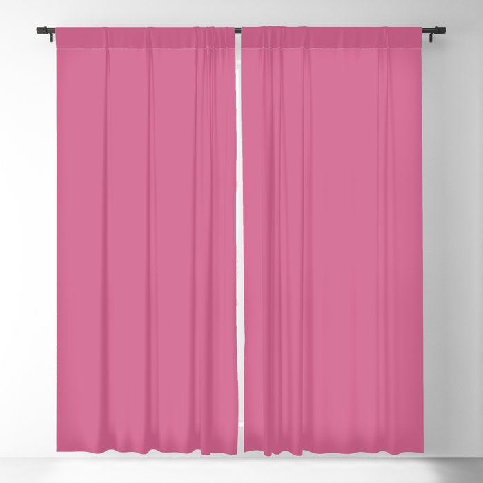 Mid-tone Pink Solid Color 2022 Spring/Summer Trending Hue Coloro Pink Guava 151-53-27 Blackout Curtain