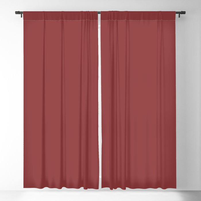 Mid-tone Red Solid Color 2022 Trending Hue Sherwin Williams Red Bay SW 6321 Blackout Curtain