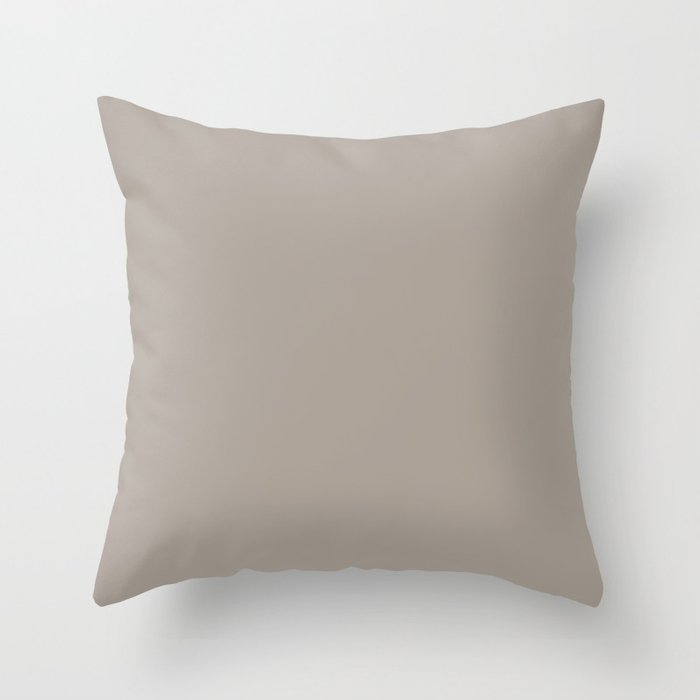 Neutral Grayed Taupe Solid Color Pairs Popular Hue HGTV Perfect Greige HGSW2475 Throw Pillow