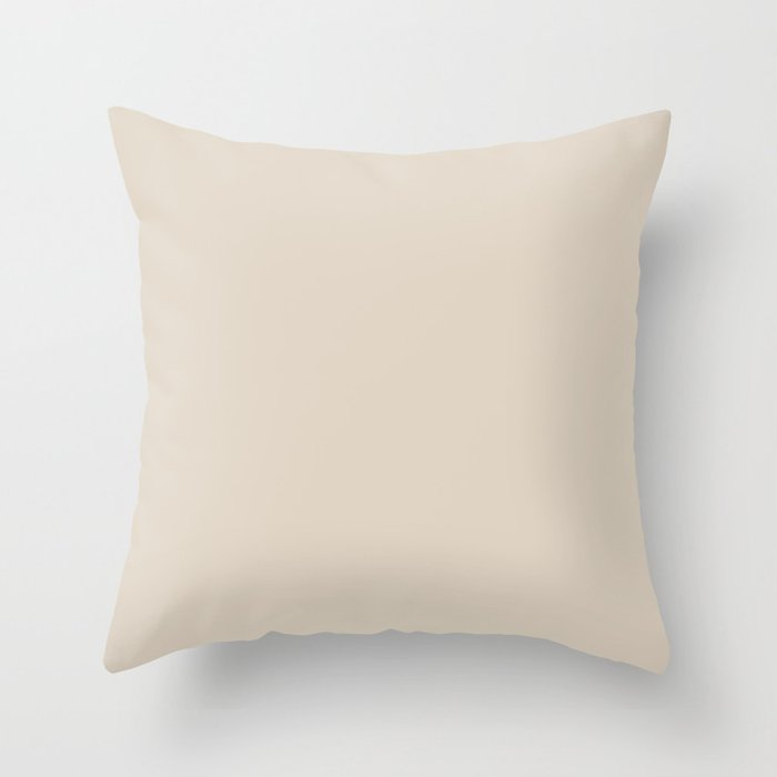 Off White Solid Color 2022 Trending Hue Sherwin Williams Natural Linen SW 9109 Throw Pillow
