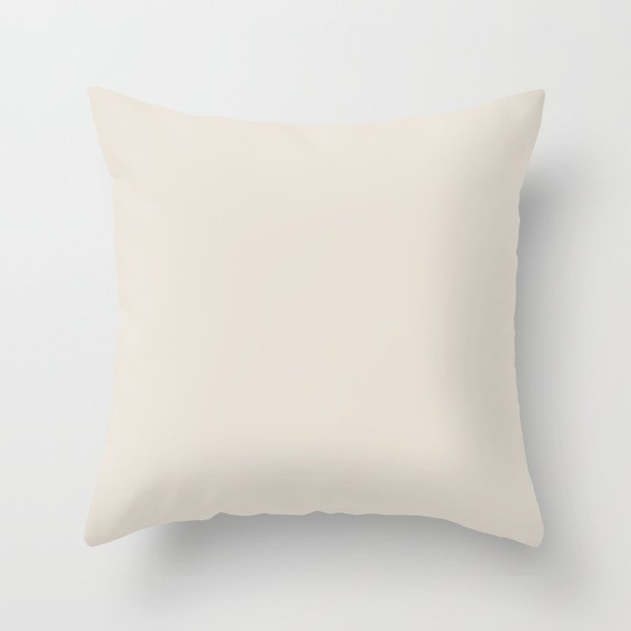 Off White Solid Color 2022 Trending Hue Sherwin Williams Shoji White SW 7042 Throw Pillow