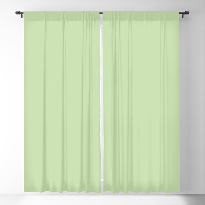 Pastel Green Solid Color 2022 Spring/Summer Trending Hue Coloro Aloe Gel 058-83-18 Blackout Curtain