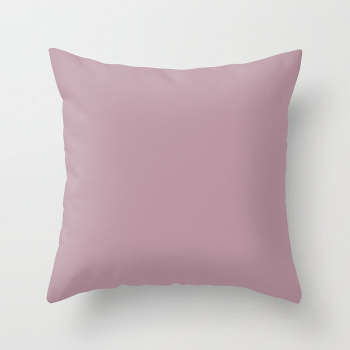 Pastel Lilac Solid Color 2022 Trending Hue Sherwin Williams Rosé SW 6290 Throw Pillow