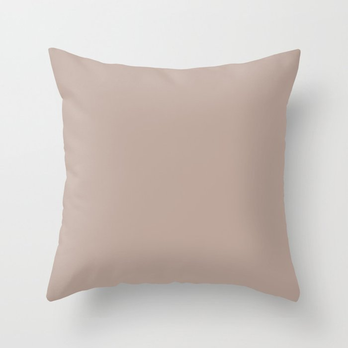 Pastel Pink Solid Hue - 2022 Color - Shade Dunn and Edwards Rose de Mai DET432 Throw Pillow