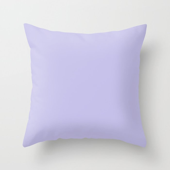 Pastel Purple Solid Hue - 2022 Color - Shade Dunn and Edwards Violet Gems DE5940 Throw Pillow