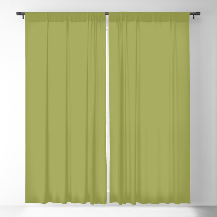 Pickled Pepper Green Solid Color PANTONE 16-0436 2022 Summer Trending Shade - Hue - Colour Blackout Curtain