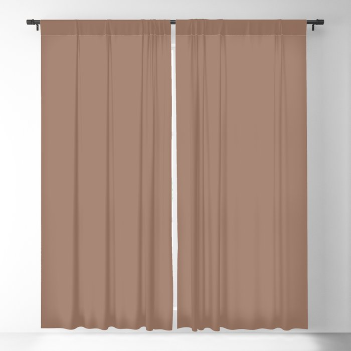 Taupe Solid Color 2022 Spring/Summer Trending Hue Coloro Wild Mushroom 024-51-12 Blackout Curtain