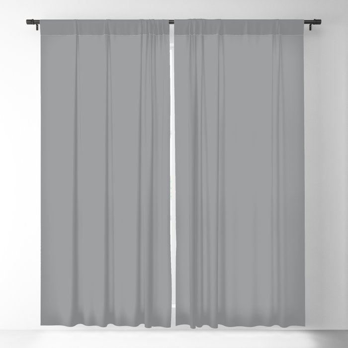 Ultimate Gray Solid Color PANTONE 17-5104 2022 Autumn/Winter Key Color - Shade - Hue - Colour Blackout Curtain