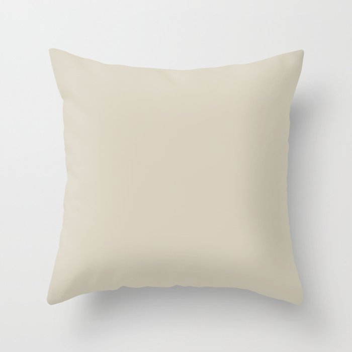 Ultra Pale Taupe Solid Hue - 2022 Color - Shade Dunn and Edwards Doric White DET641 Throw Pillow