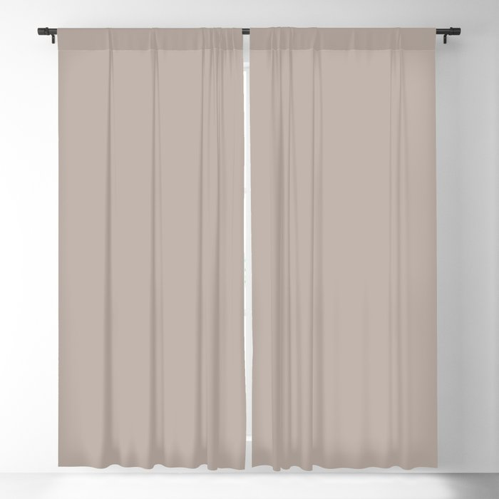 Urban Warm Taupe Solid Color Pairs Behr 2022 Trending Hue - Shade - Nightingale Gray N200-3 Blackout Curtain