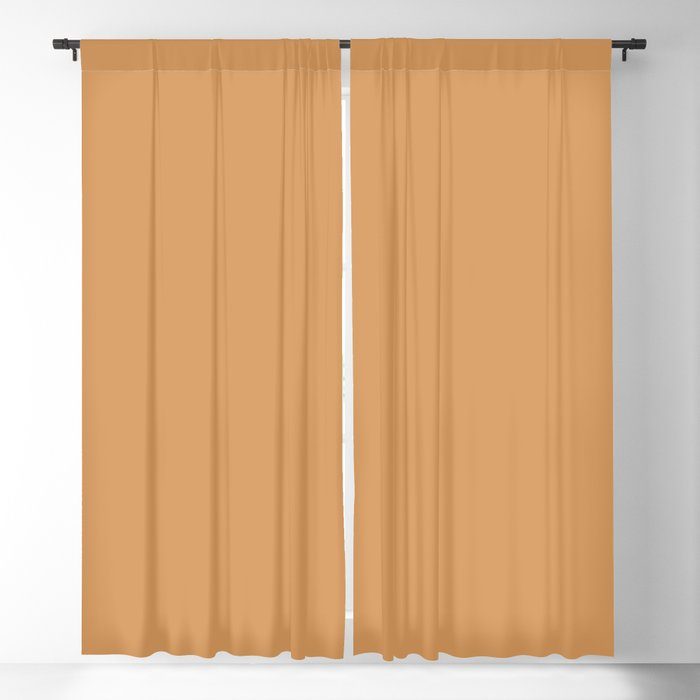 Warm Brown Solid Color 2022 Trending Hue Sherwin Williams Bakelite Gold SW 6368 Blackout Curtain
