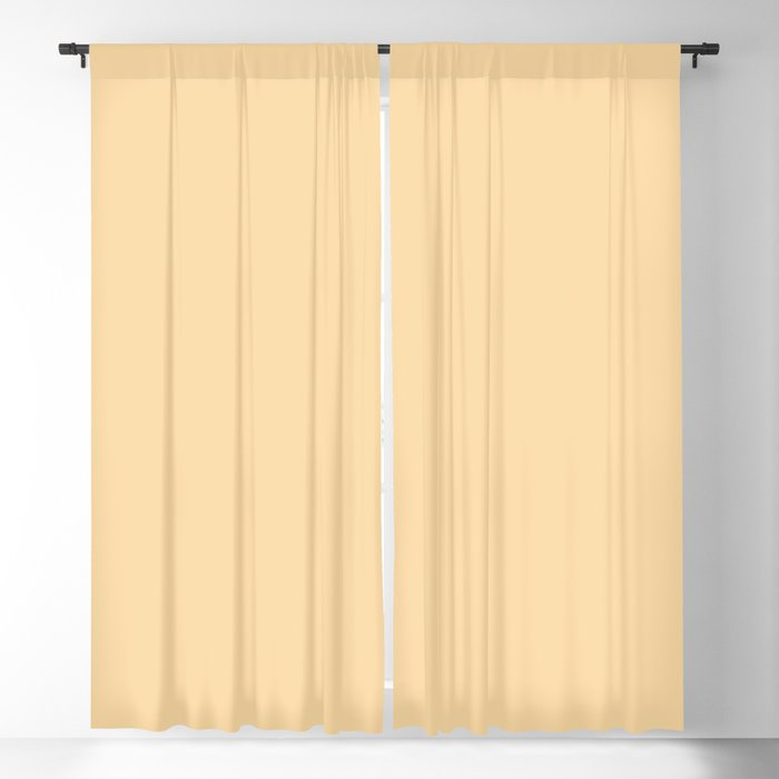 Wholesome Pastel Yellow Solid Color Pairs Behr 2022 Trending Hue - Shade - Corn Stalk M290-3 Blackout Curtain