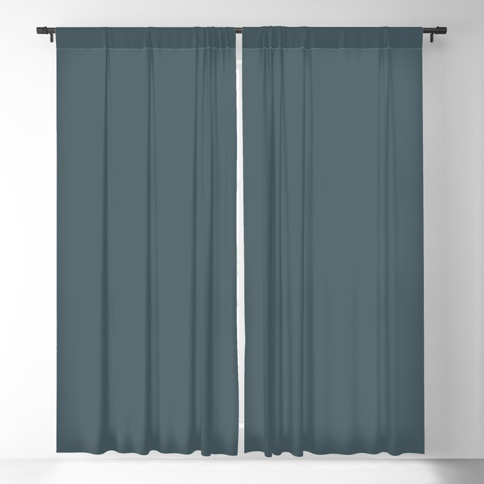 Dark Blue Solid Hue - 2022 Color - Shade Pairs Dunn and Edwards Blue Tapestry DET545 Blackout Curtain