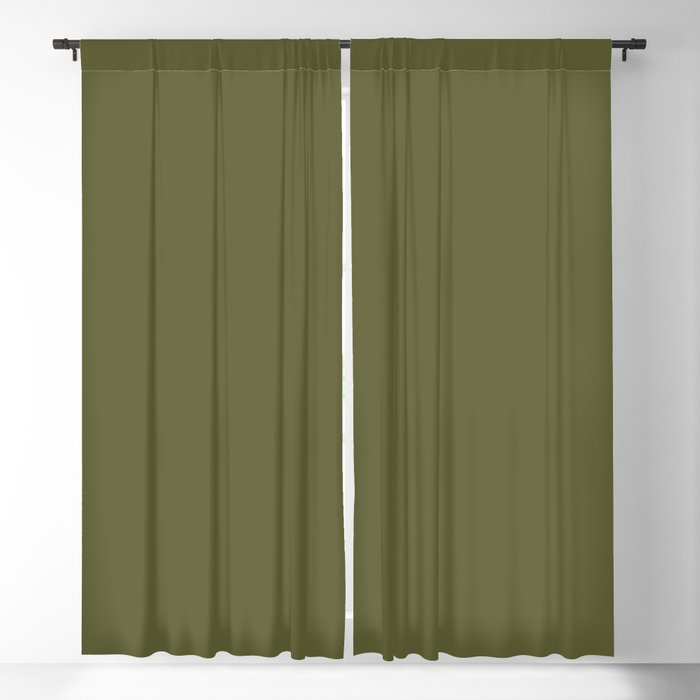 Dark Green Solid Color 2022 Trending Hue Sherwin Williams Basque Green SW 6426 Blackout Curtain
