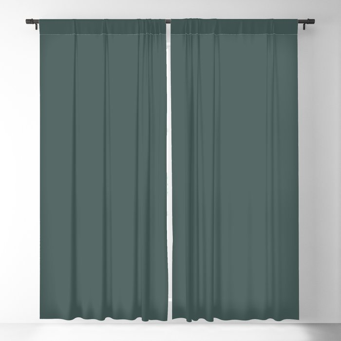 Dark Turquoise Solid Hue - 2022 Color - Shade Dunn and Edwards Loch Ness DE5748 Blackout Curtain