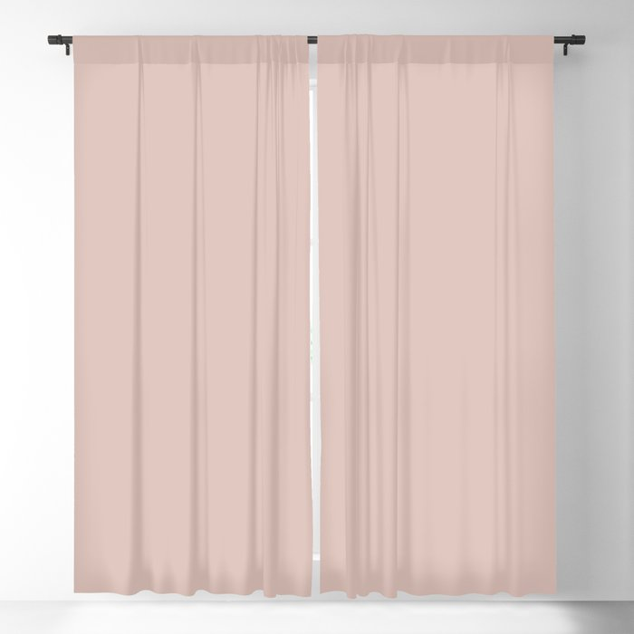 Light Pink Beige Solid Color 2022 Trending Hue Sherwin Williams Pink Shadow SW 0070 Blackout Curtain