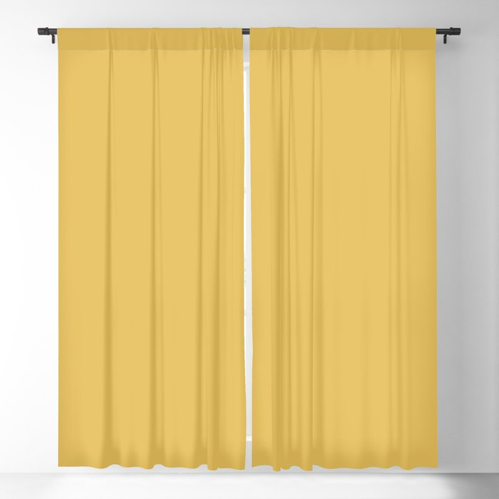 Mid Tone Yellow Solid Hue - 2022 Color - Shade Dunn and Edwards Golden Appeal DE5382 Blackout Curtain